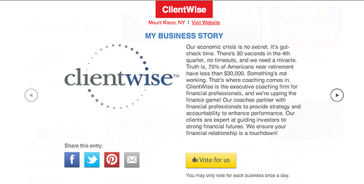 Vote for ClientWise