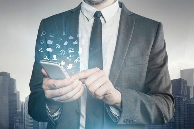 Businessman-using-Smart-Phone