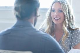 blonde employee interview